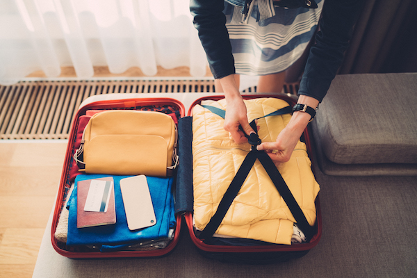 holiday stress- packing suitcase