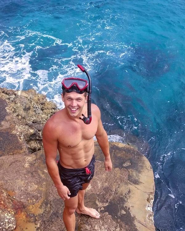 alasdair snorkeling