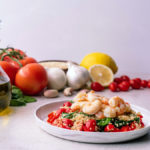 lemon garlic shrimp with quinoa