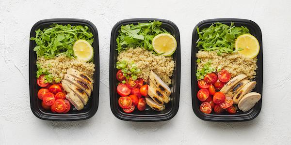 sugar free 3 meal prep- quinoa and chicken