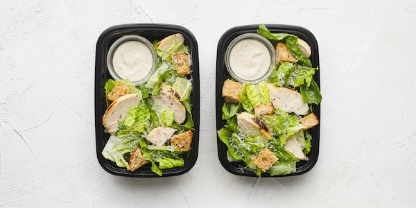 sugar free 3 meal prep- caesar salad with chicken