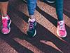 women's running shoes on feet   drumstick dash
