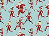 different santa claus running | santa run openfit