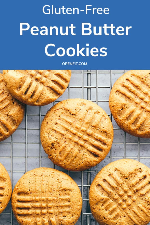 gluten free peanut butter cookies - pin image
