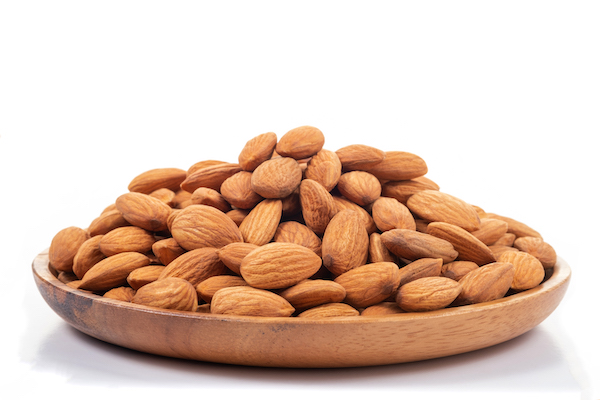 almonds nutrition- almonds in a bowl