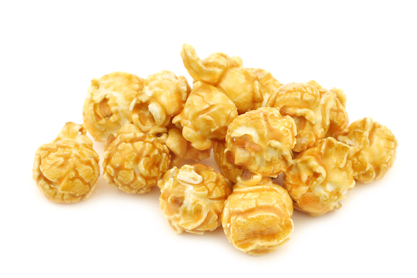 is popcorn healthy- caramel popcorn