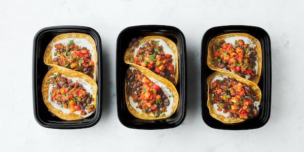 pescatarian meal prep- tempeh tacos