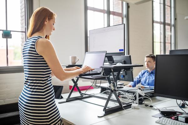 hamstring stretch- standing desk