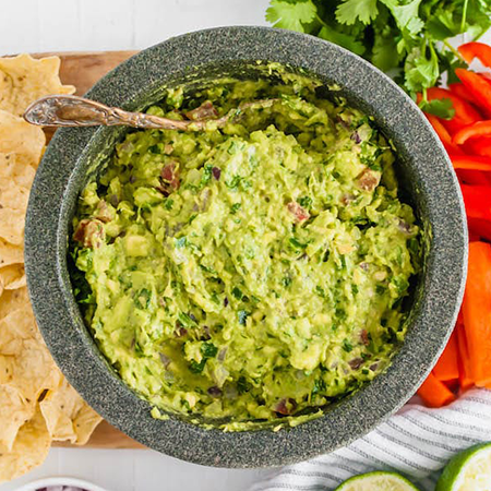 bowl of guacamole | game day appetizers