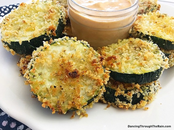 game day appetizers- zucchini chips