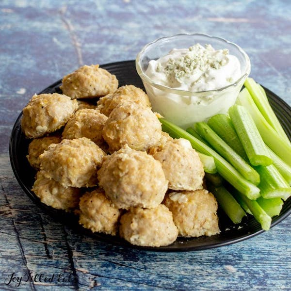 game day appetizers- chicken meatballs