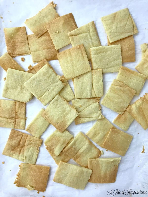 game day appetizers- almond flour crackers