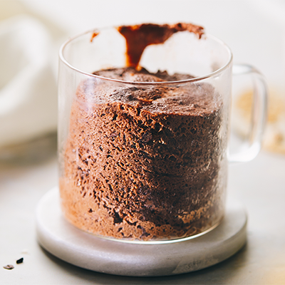 double chocolate mug cake | valentine's day recipes