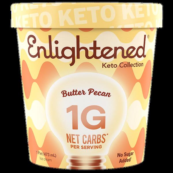 sugar free ice creams - enlightened butter pecan