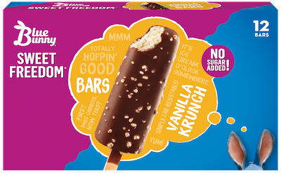 sugar free ice cream- blue bunny bars