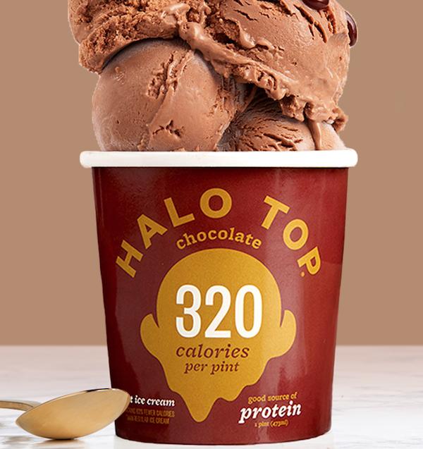 sugar free ice cream- halo top chocolate