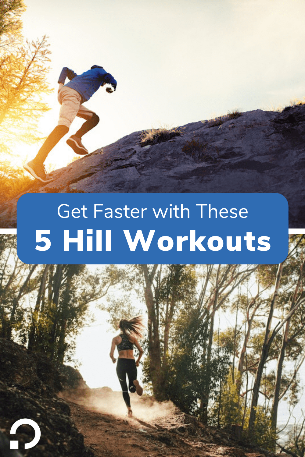 hill workouts pin image