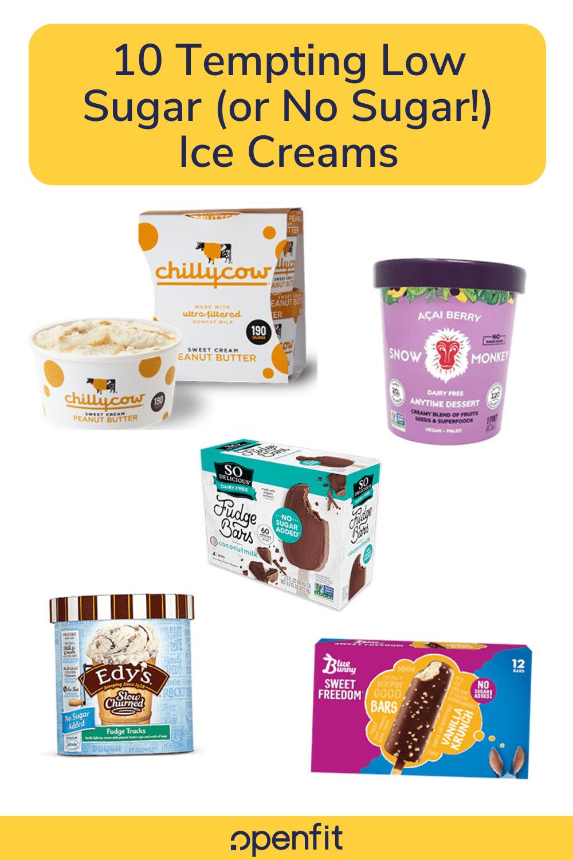 low sugar ice cream pin image