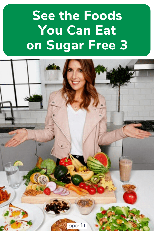 sugar free 3 approved food pin image