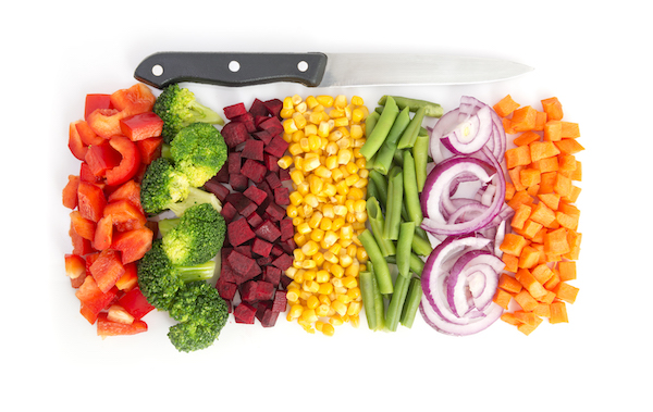appealing vegetables- prepped vegetables