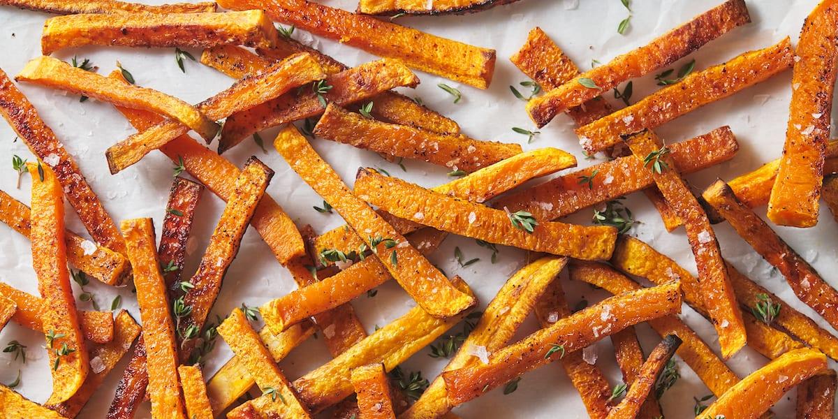 kid friendly meal preps - butternut squash fries