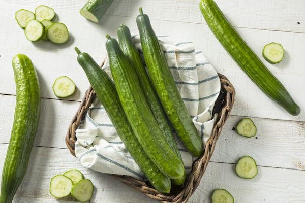 cucumber juice- cucumbers on table