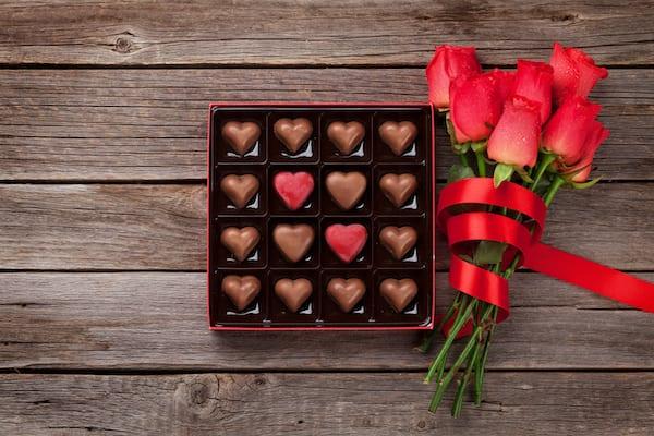 valentines chocolate- chocolates in box