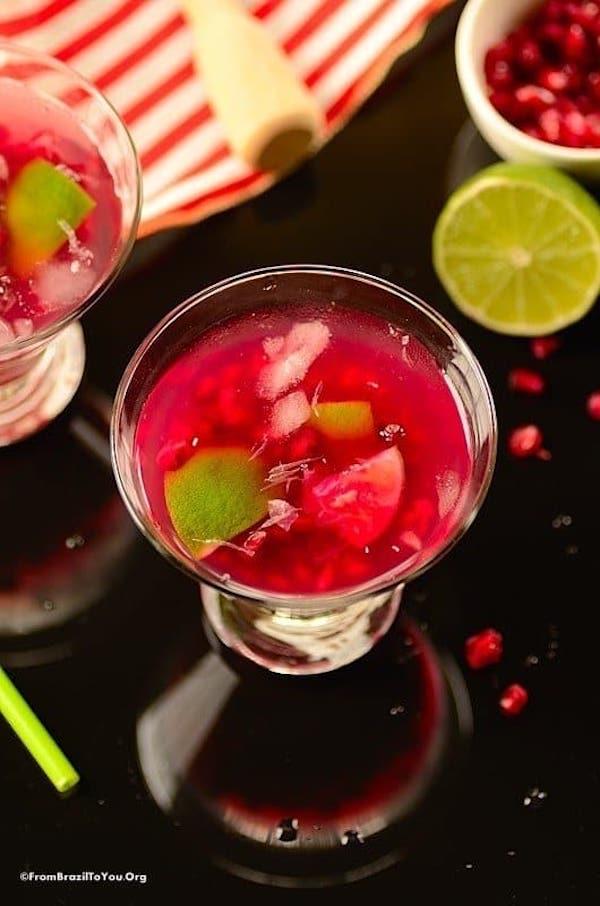 valentines cocktails- pom caipirnha