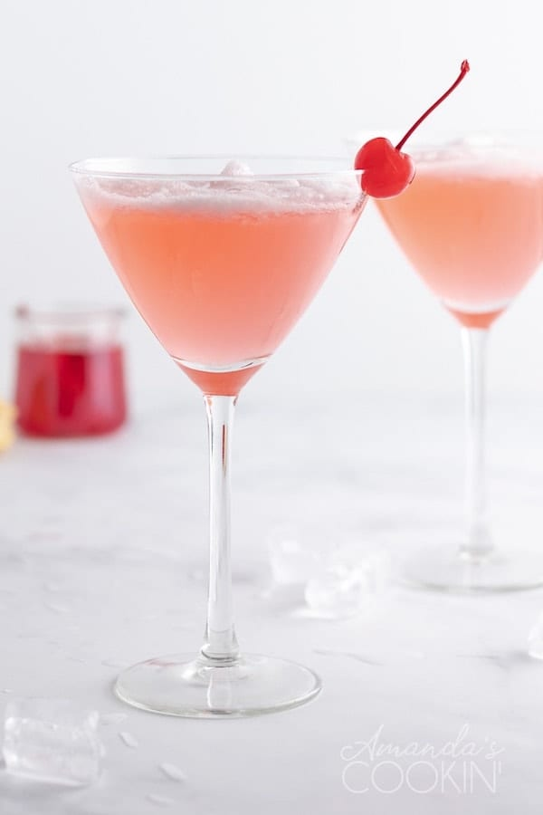 valentines cocktails -pink lady cocktail