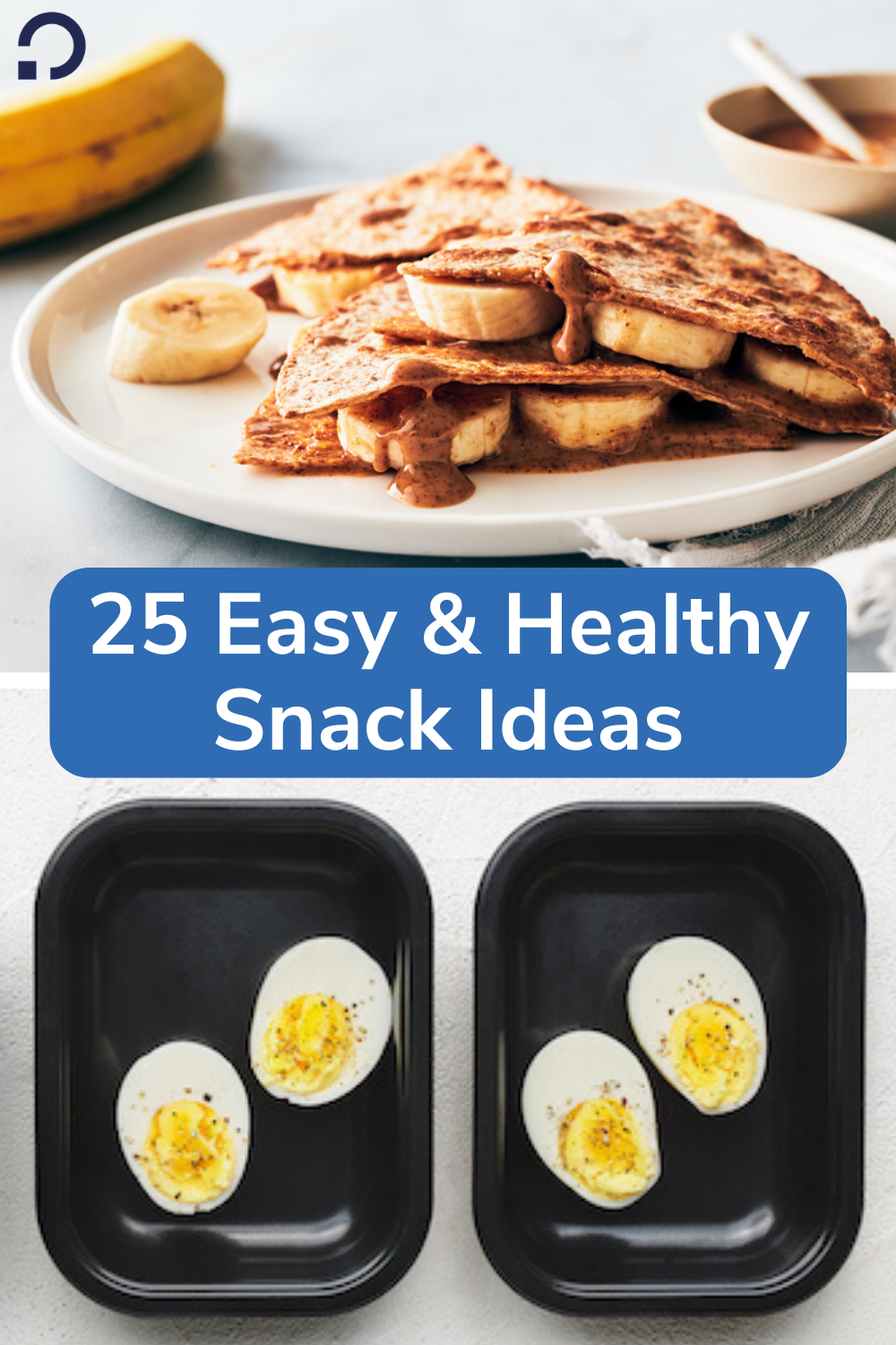 easy healthy snacks - pin image