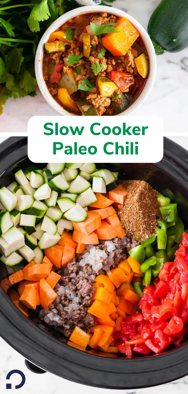 slow cooker paleo chili - pin image