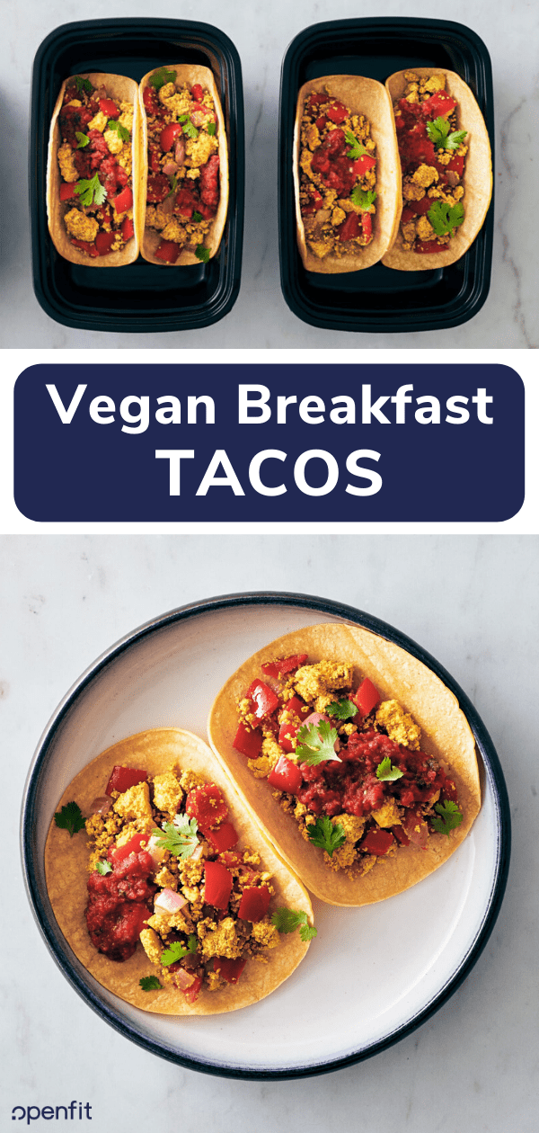 vegan breakfast tacos - pin image