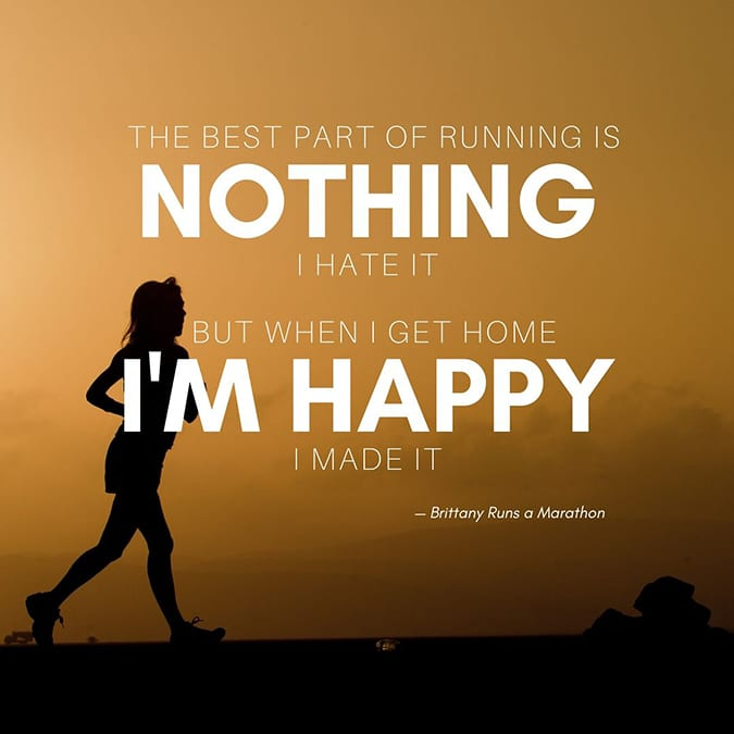 funny running quotes - best part of running is nothing