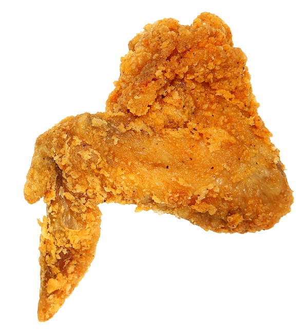 chicken calories- fried chicken wing