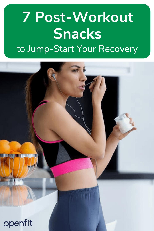 post workout snacks pin image
