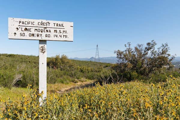 hiking the pct - pct sign