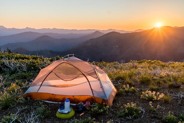hiking the pct - camping on the pct