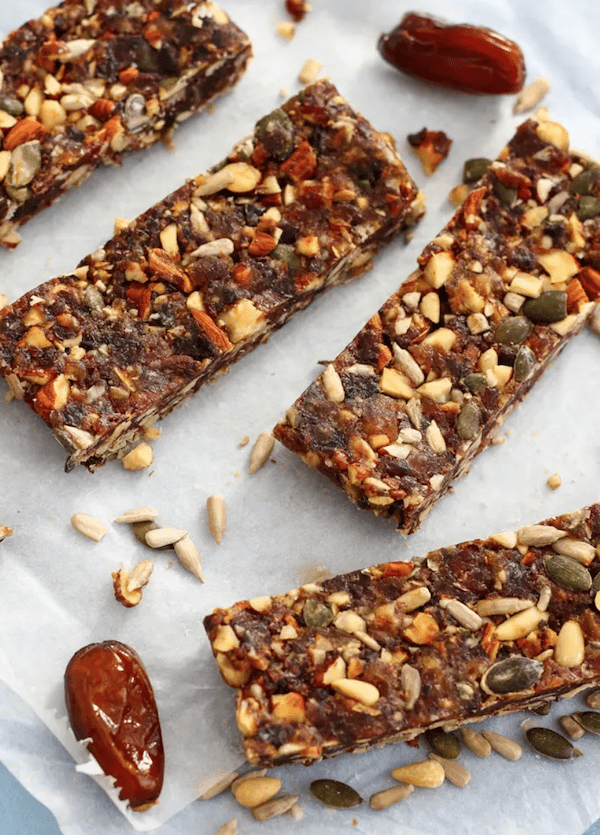 easy healthy snacks - fruit seed bars