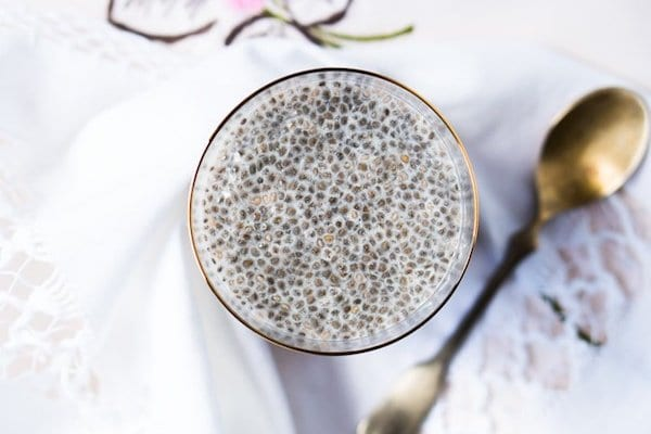 healthy easy snacks - overnight chia pudding
