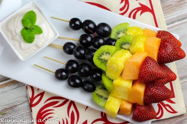 easy healthy snacks - fruit skewers