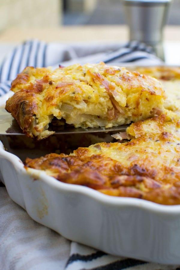 egg recipes - crustless quiche