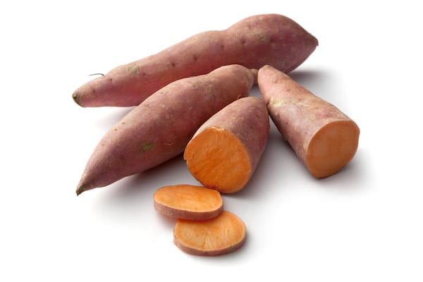 are sweet potatoes healthy - sliced sweet potato