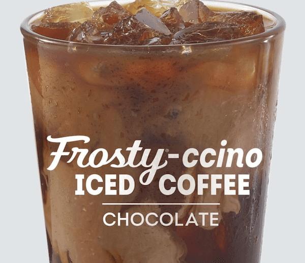 wendys breakfast - iced coffee