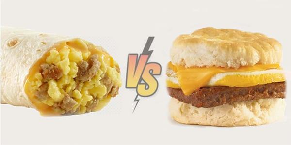wendys breakfast menu - burrito vs biscuit