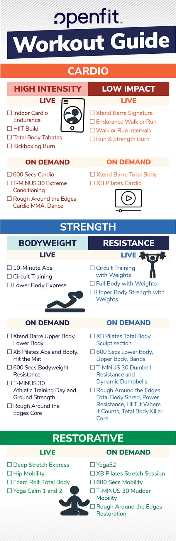 Openfit Workout Guide
