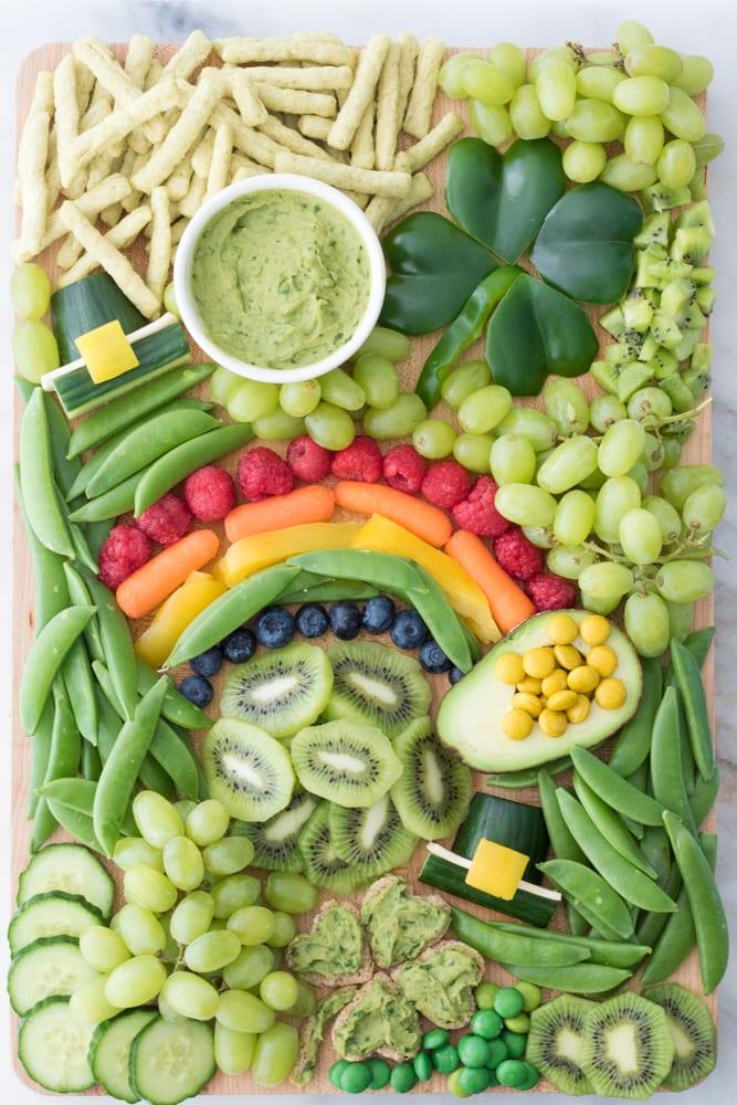 st patricks day snacks - veggies board