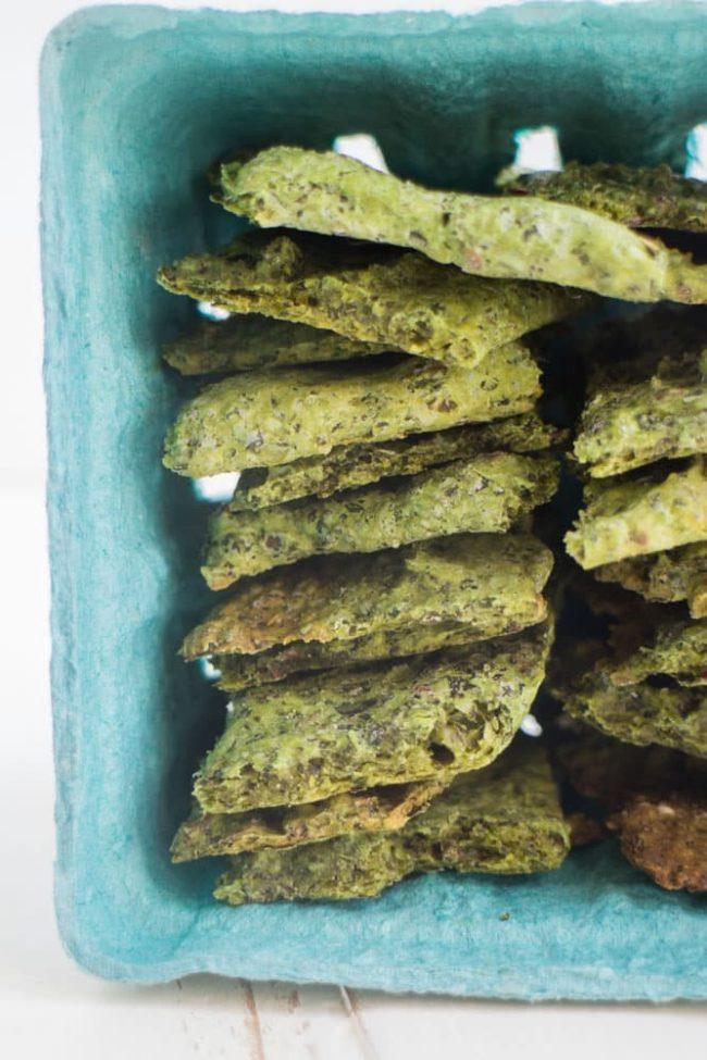 homemade kale crackers | st. patrick's da desserts