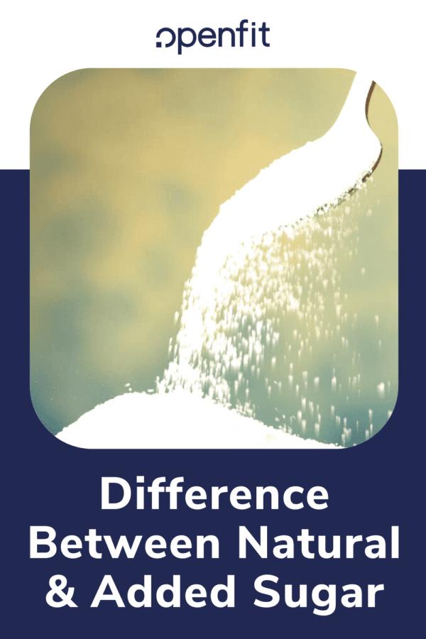 natural vs added sugar - pin image