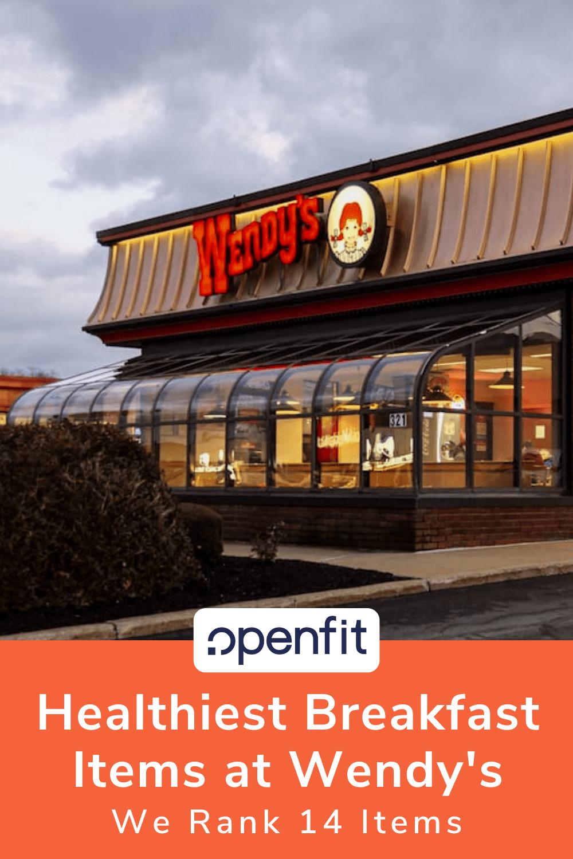 healthy wendys breakfast - pin image