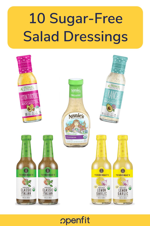 sugar free salad dressing - pin image